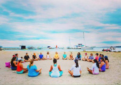 Meditación en Playa Concorde